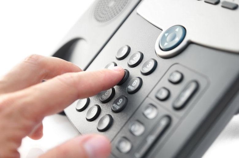 Перемещение по пунктам IVR происходит при нажатии цифр телефона